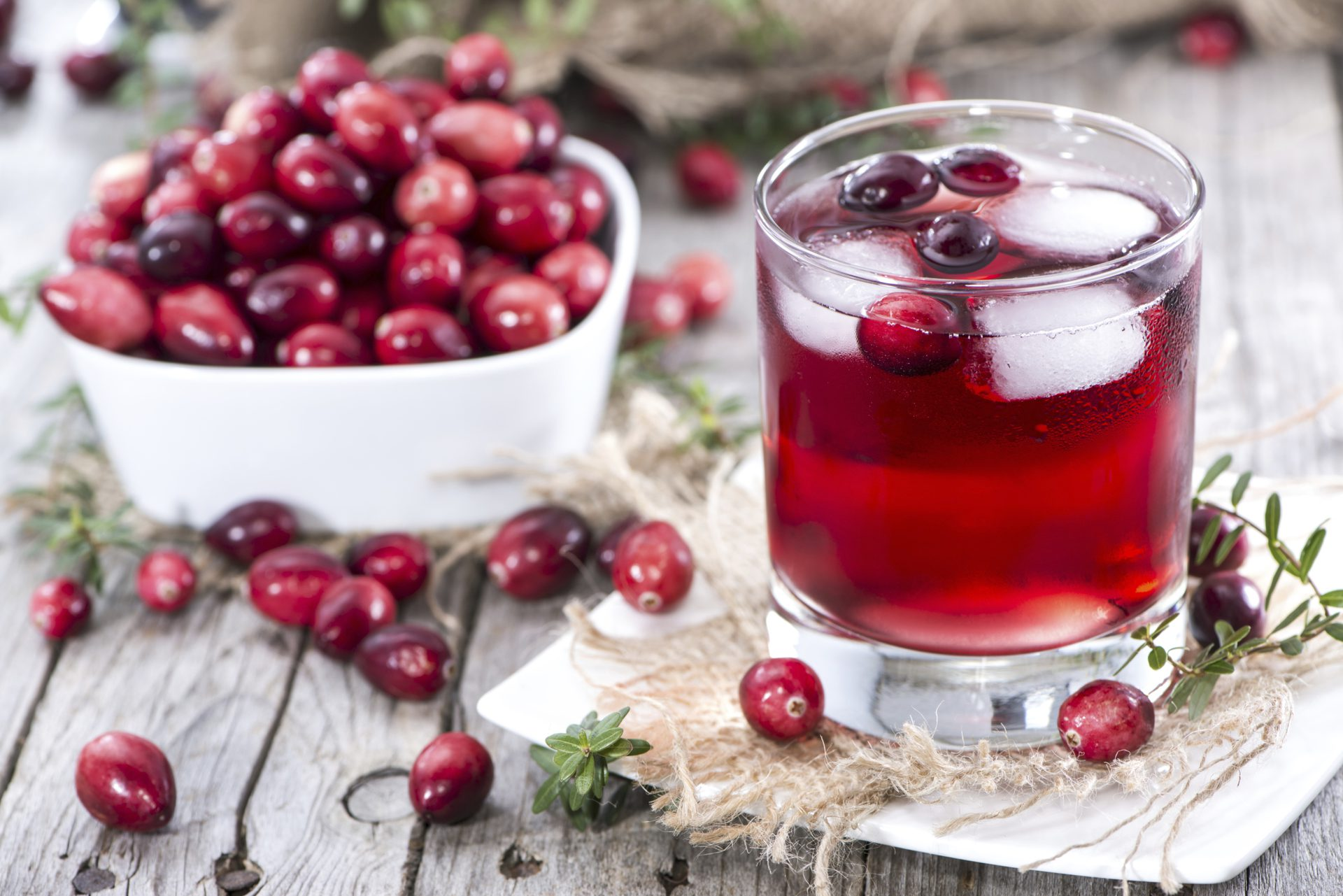 Cranberry juice cystitis treatment