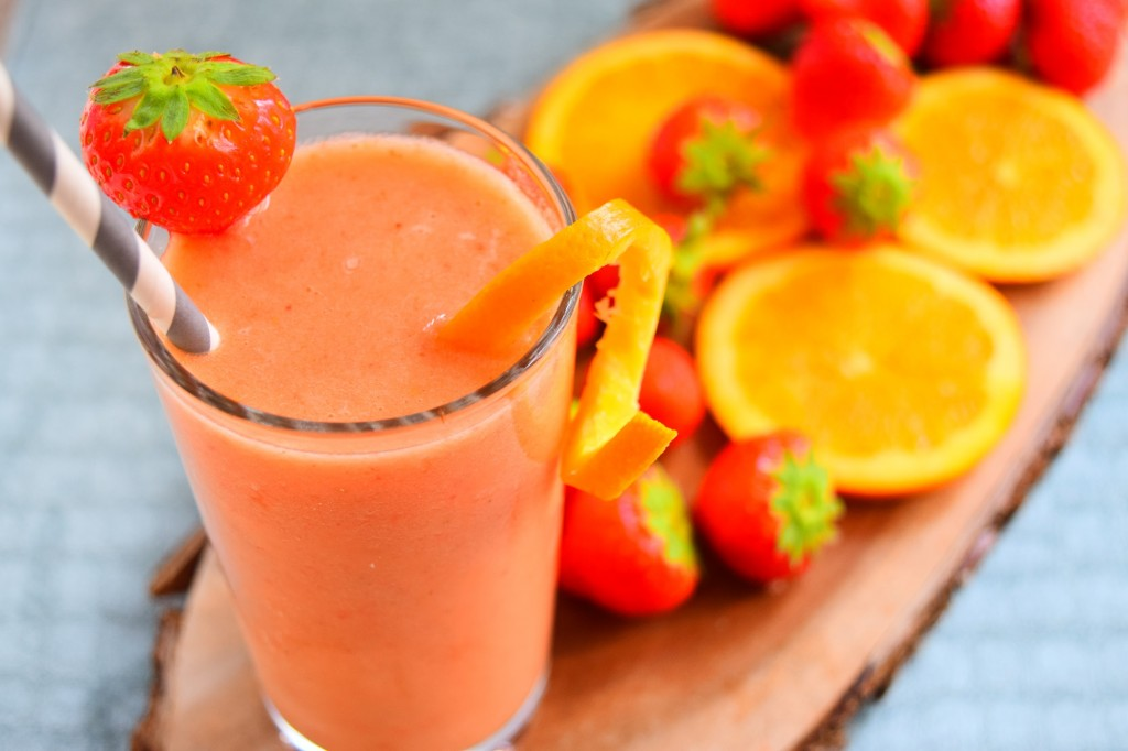 Orange and Strawberries Juice