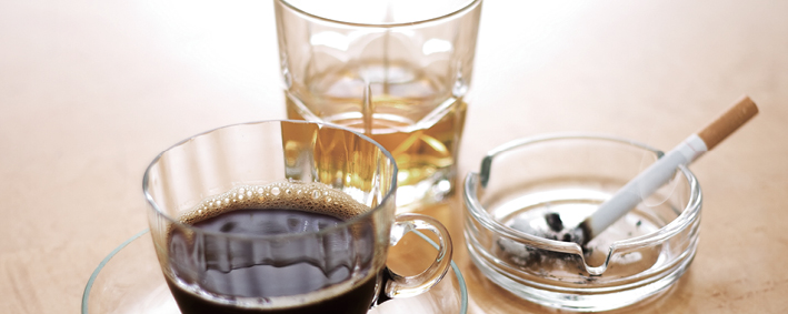 caffeine drinks and nicotine
