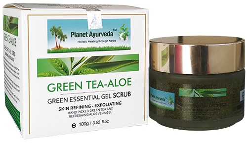 Green Tea Algae Aloe Vera Gel Scrub - Planet Ayurveda